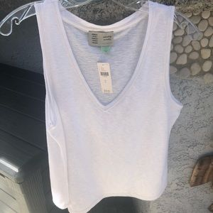 White Sweet Escape Tank by Anthropologie